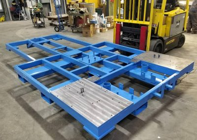 Cart Frame – Mask, blast, epoxy top coat
