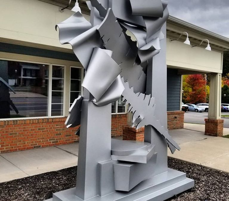 Albert Paley sculpture blasted and painted