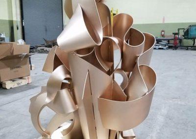 Albert Paley bronze sculpture glass bead blasted