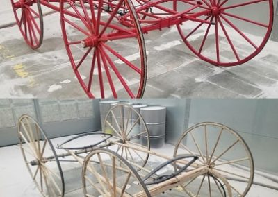 1880's Wooden horse buggy stripped with plastic media