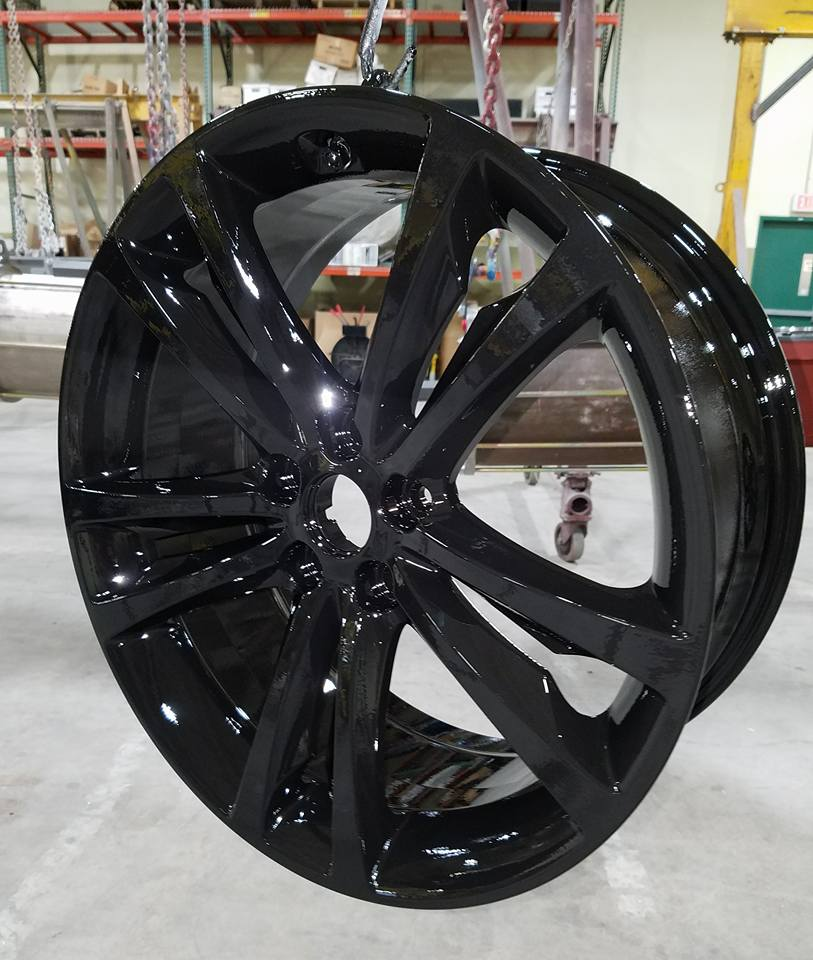 black painted wheel