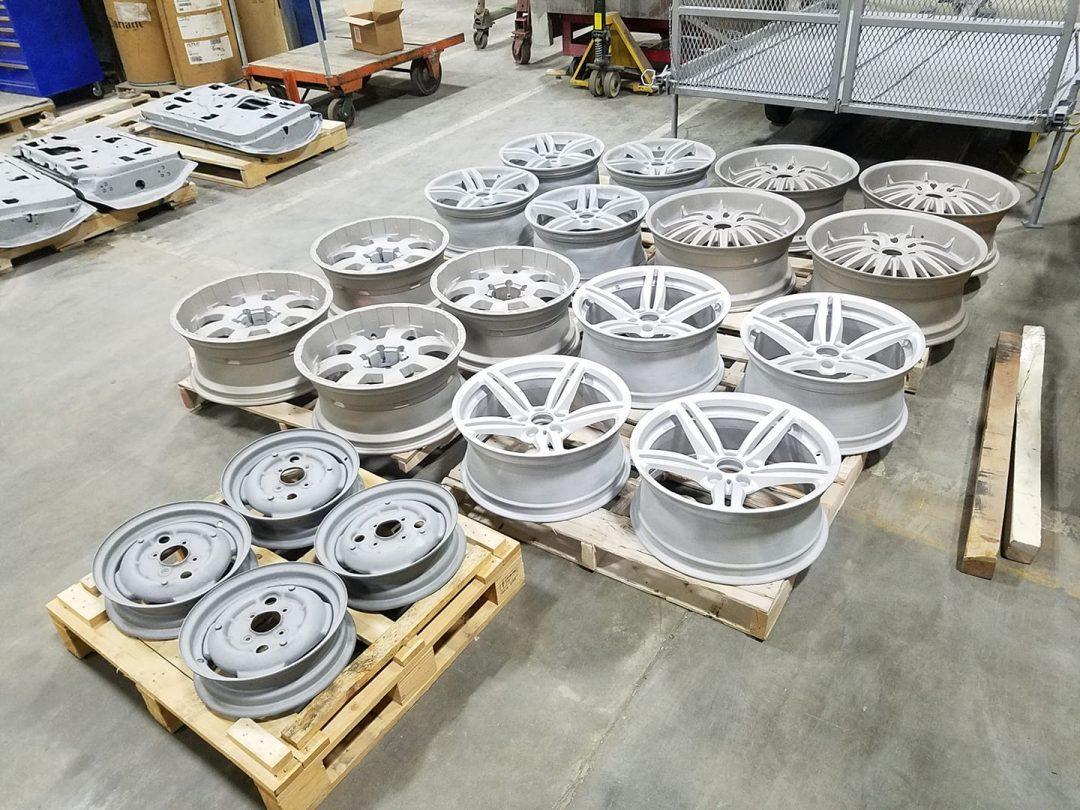 wheels ready for powder coat