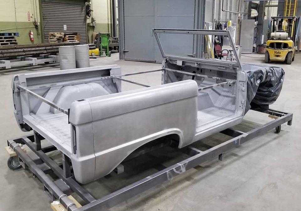 '74 Bronco Tub plastic media blasted