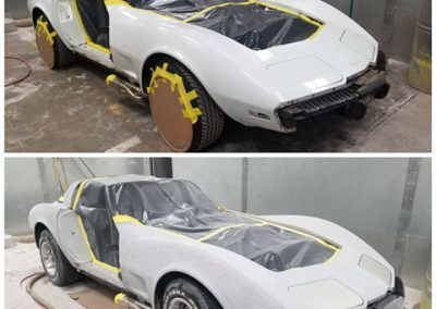 '78 Corvette plastic media blasted