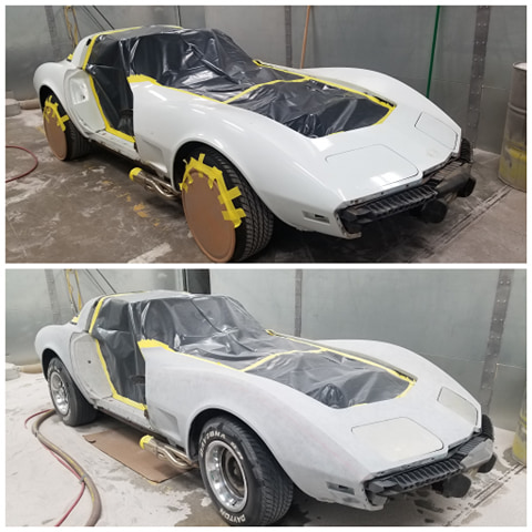 '78 Corvette plastic media blasted