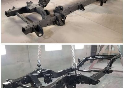 Chevy Truck chassis beore & after