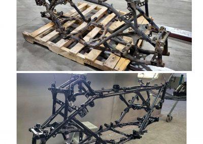 Quad Frame before & after
