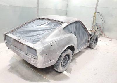 '70 Datsun plastic media blasted
