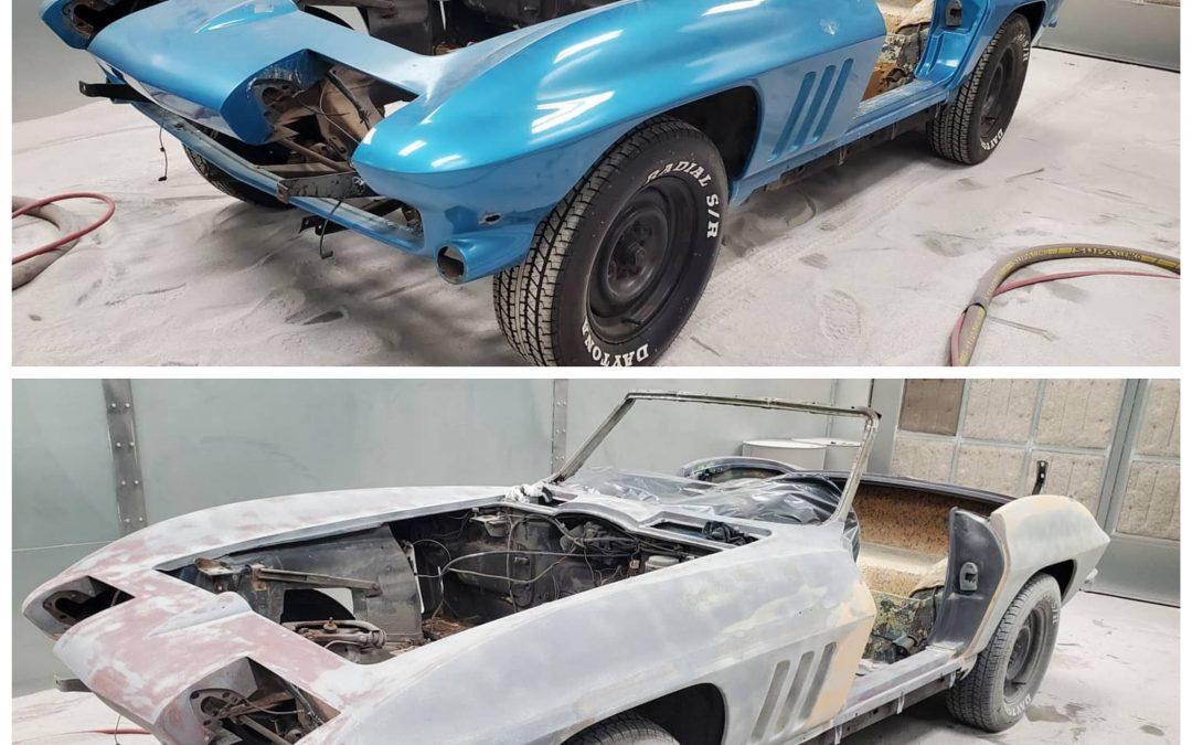 '66 Corvette plastic media blasted