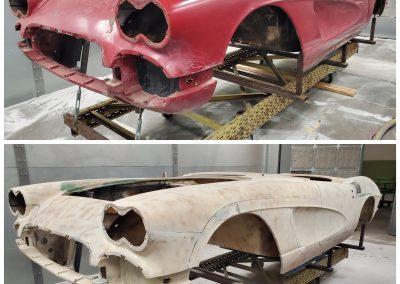 '62 Corvette plastic media blasted